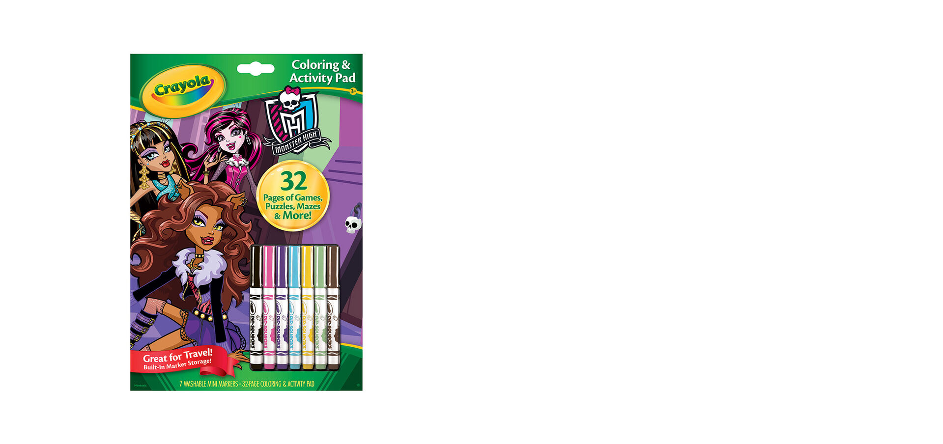 Coloring & Activity Pad with Markers, Monster High