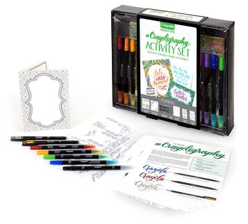 Signature Crayoligraphy Activity Set products and packaging