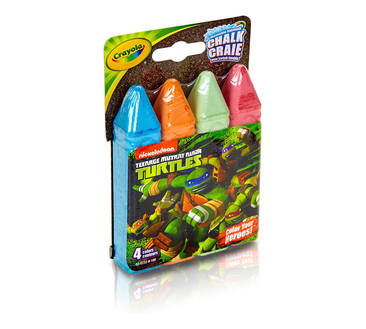 4 ct Teenage Mutant Ninja Turtles Washable Sidewalk Chalk  Color
