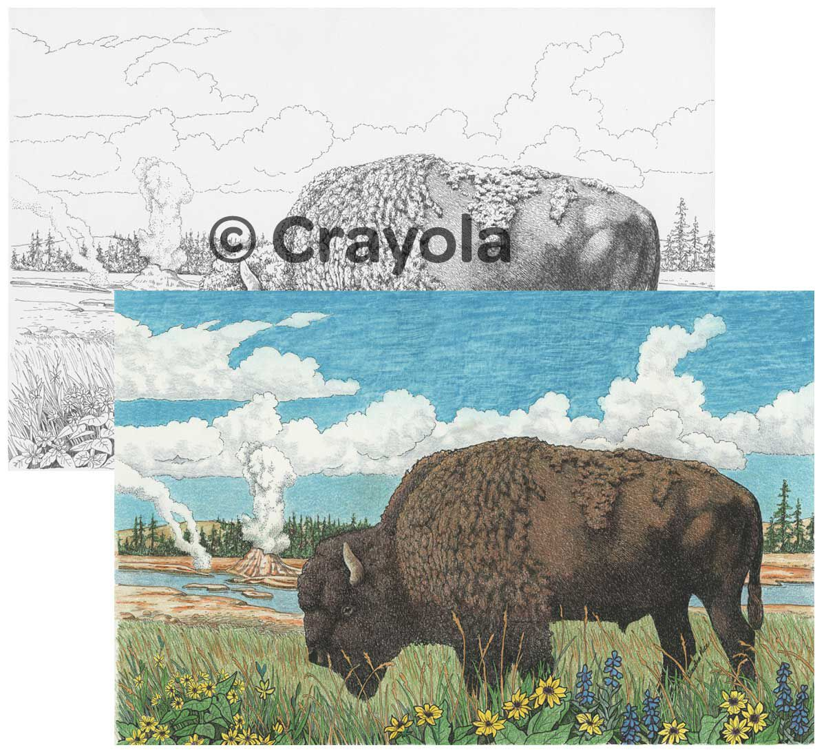 Color Escapes Adult Coloring Kit, National Parks - Crayola