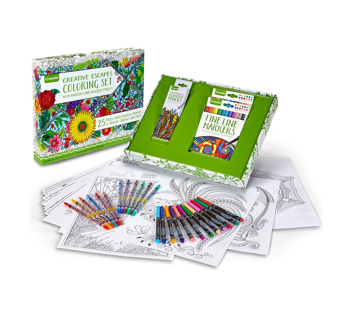 Creative Escapes Coloring Set- Large Gift Set - Crayola