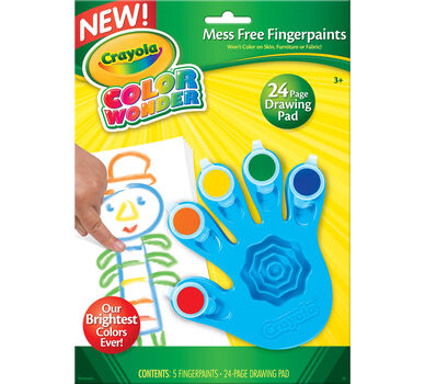 Color wonder fingerpaints crayola for Crayola color wonder 30 page refill paper