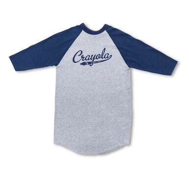 Crayola 3/4 Sleeve Baseball Jersey T-Shirt-Choose Your Color