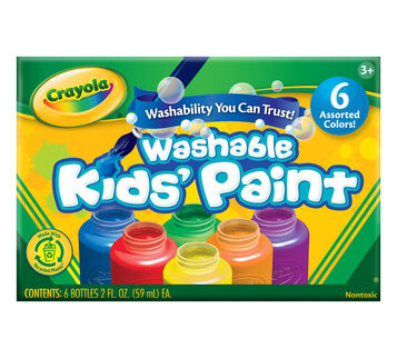 Assorted Color Washable Paint 6 ct.