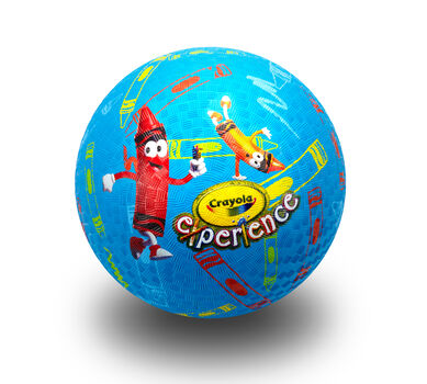 "7"" Playground Ball W/Crayons"