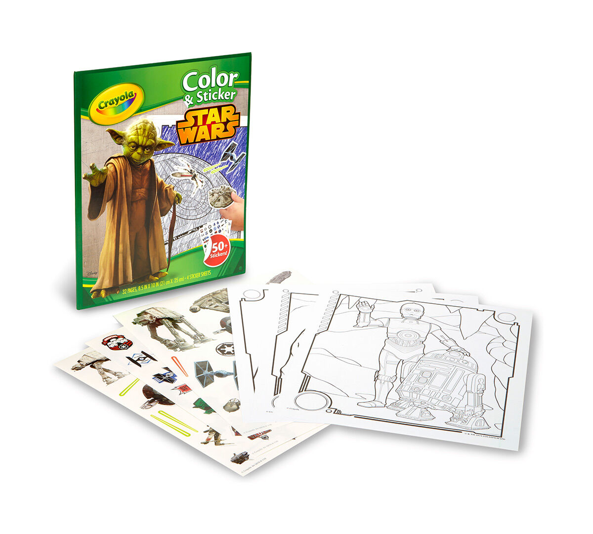 crayola color u0026 sticker book star wars crayola