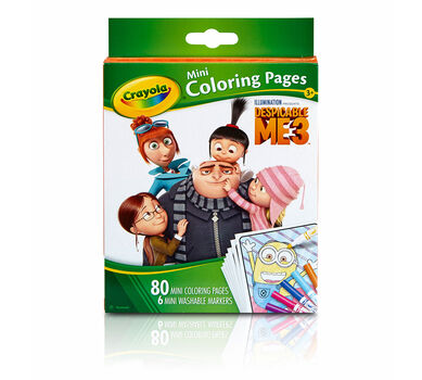 Crayola Mini Coloring Pages Despicable Me edition Art