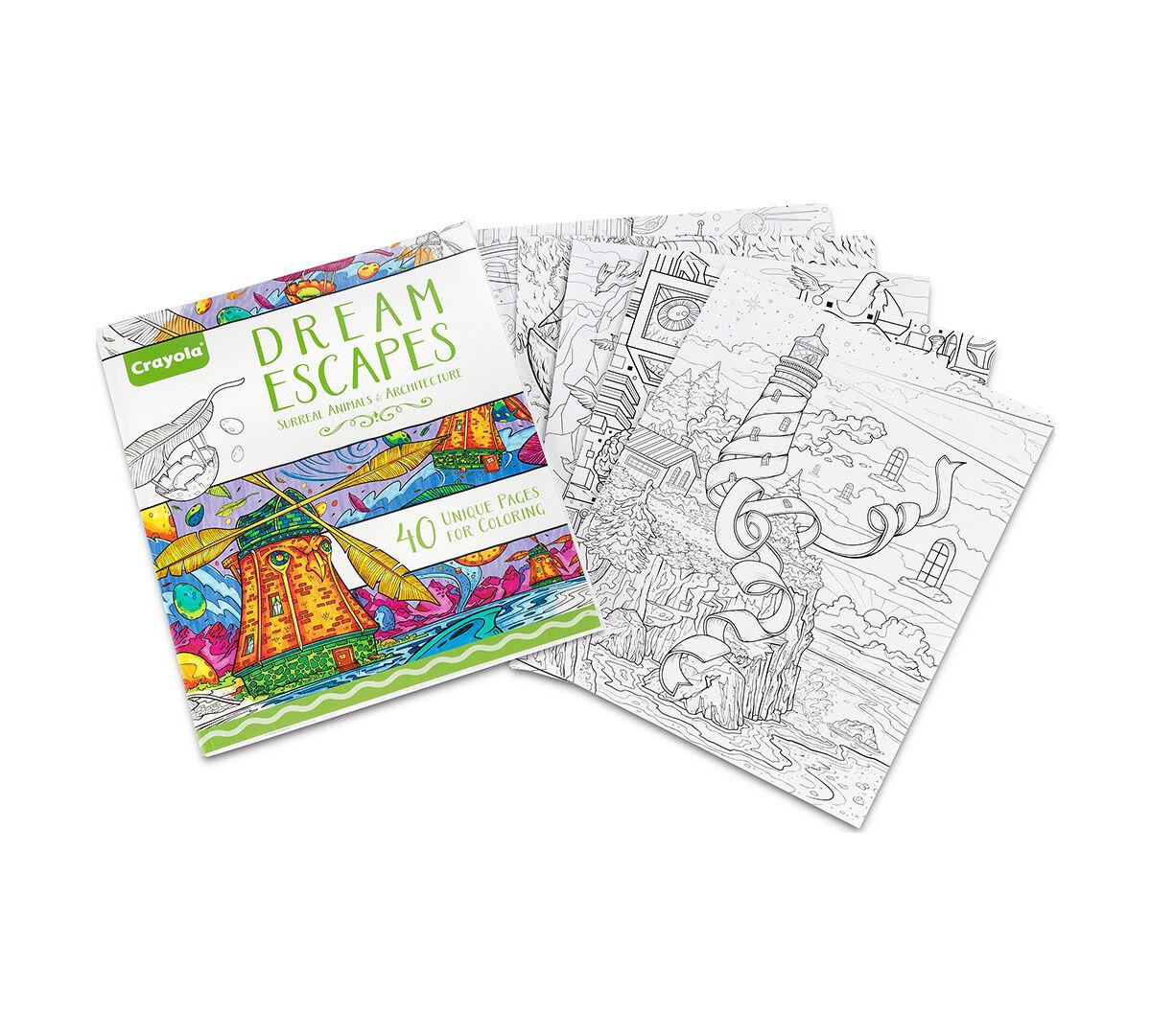 Crayola Dream Escapes Adult Coloring Art Activity 40