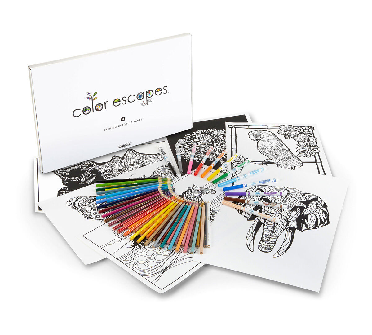 Color Escapes Adult Coloring Kit, Nature - Crayola