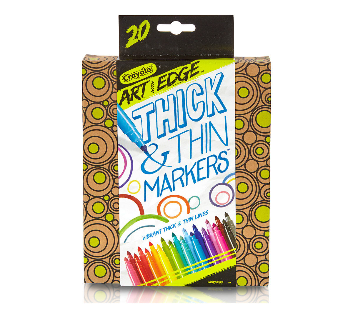 Art color markers - Art With Edge 20 Ct Thick N Thin Markers
