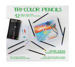 Tri Color 12 Count Colored Pencils tin open