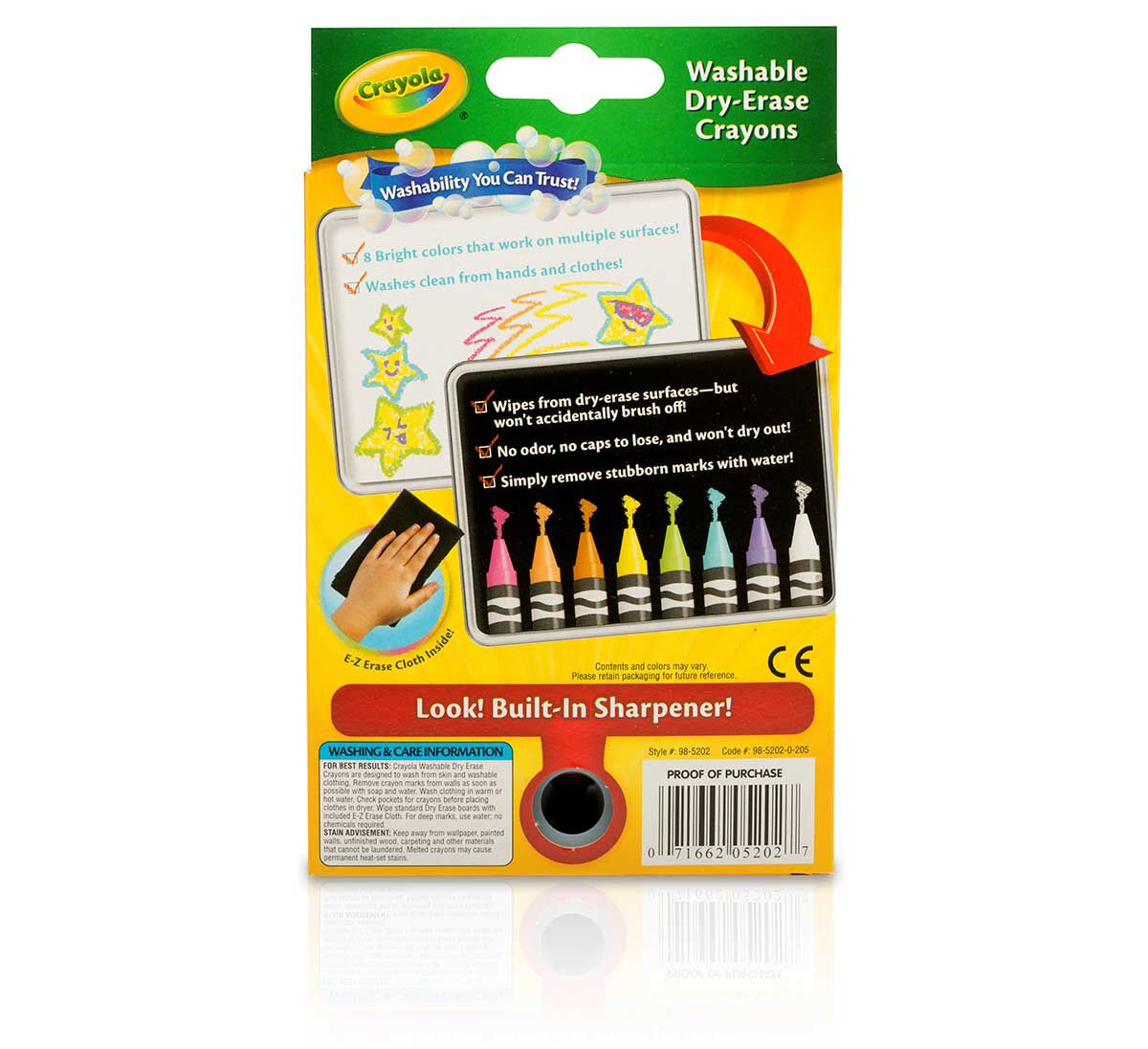 dry erase bright crayons