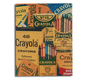 Crayola Timeline Collage 38 Canvas Board 11x14