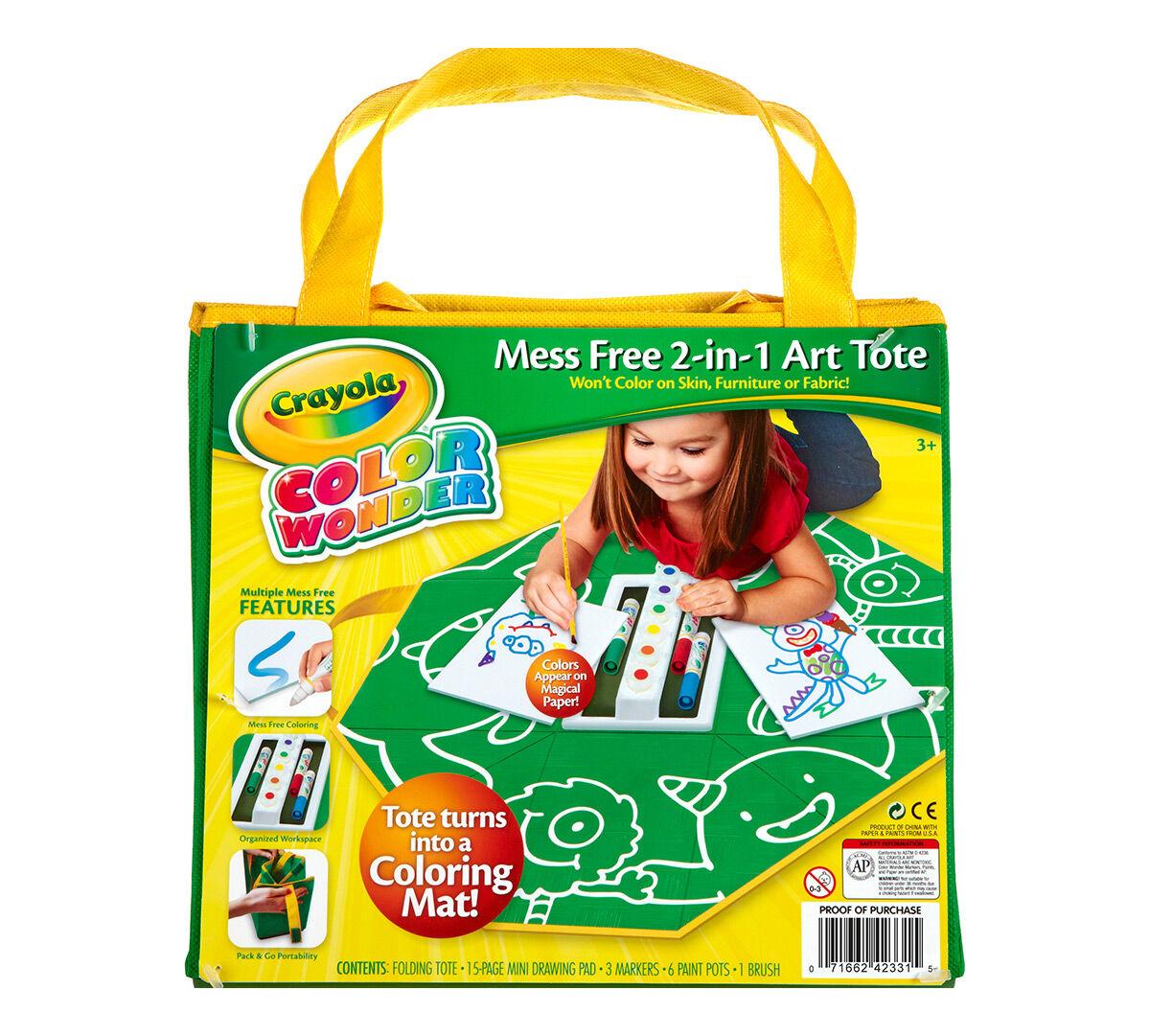 Color Wonder Mess Free 2-in-1 Art Tote - Crayola