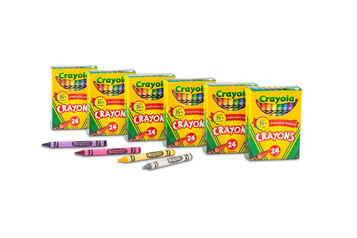 24 ct Crayons 6 -pack