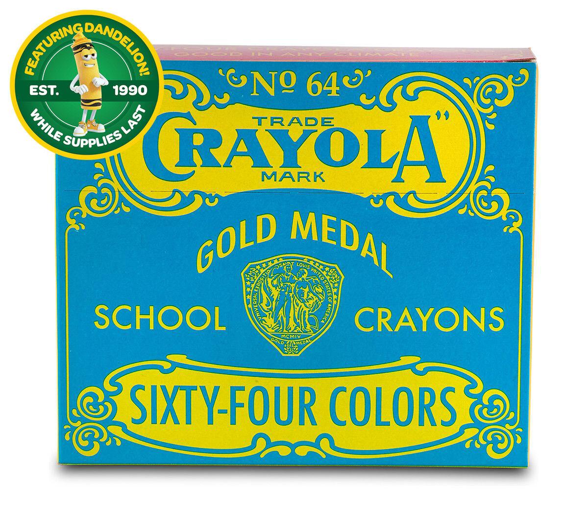 Pop Art Vintage Box of 64 Crayons - Crayola