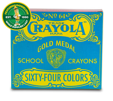 Pop Art Vintage Box of 64 Crayons