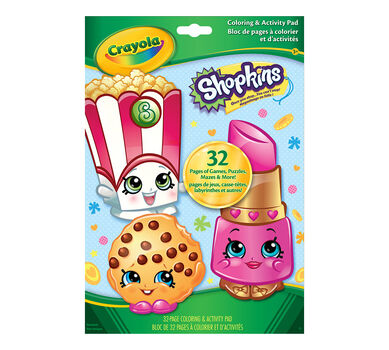 coloring activity pad shopkins