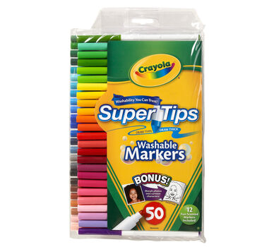 Washable Super Tips Markers with Silly Scents, 50 Count