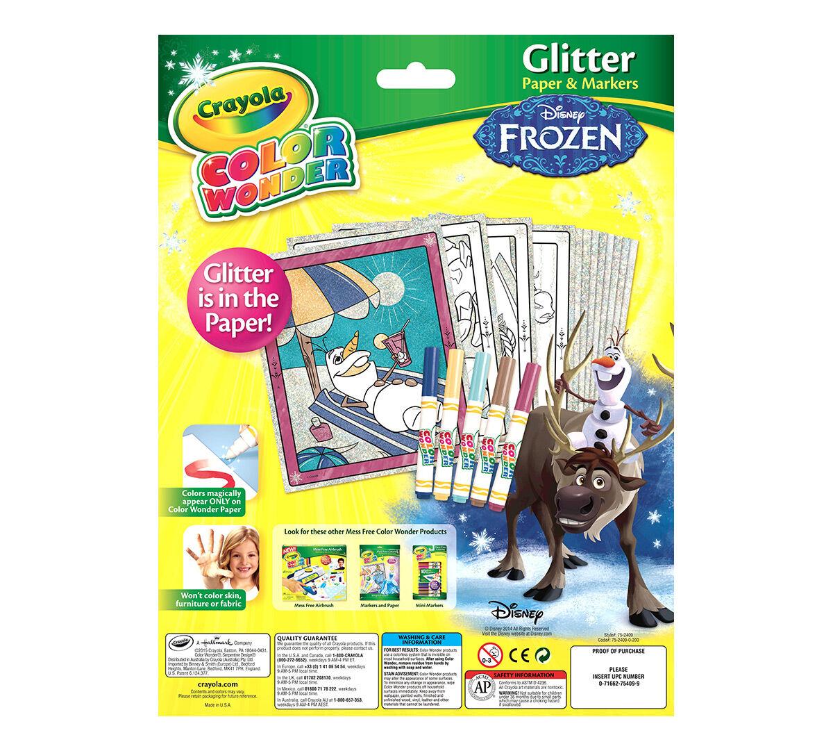 Color Wonder Disney Frozen Glitter Crayola