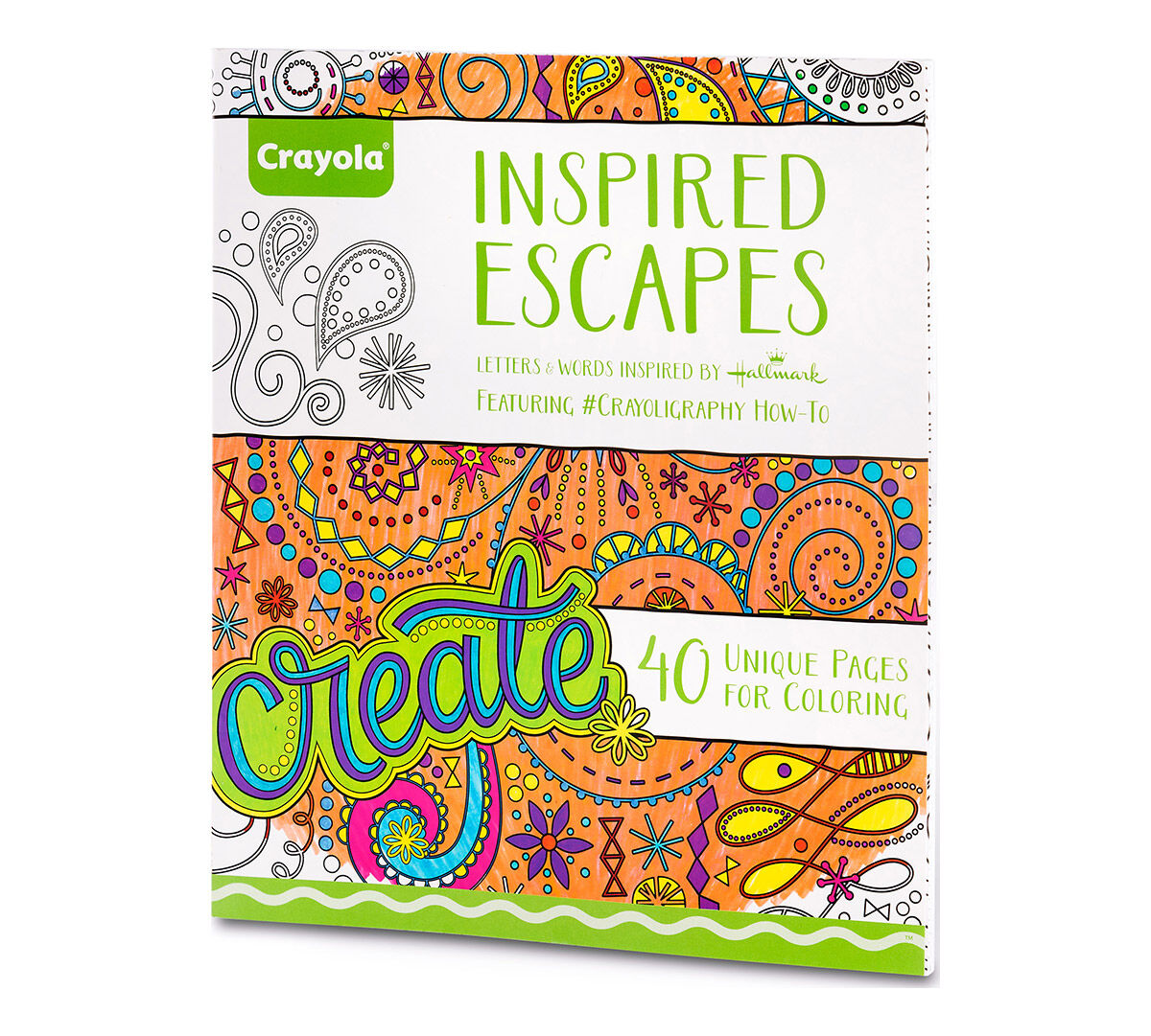 Crayola Inspired Escapes Adult Coloring Art Activity 40