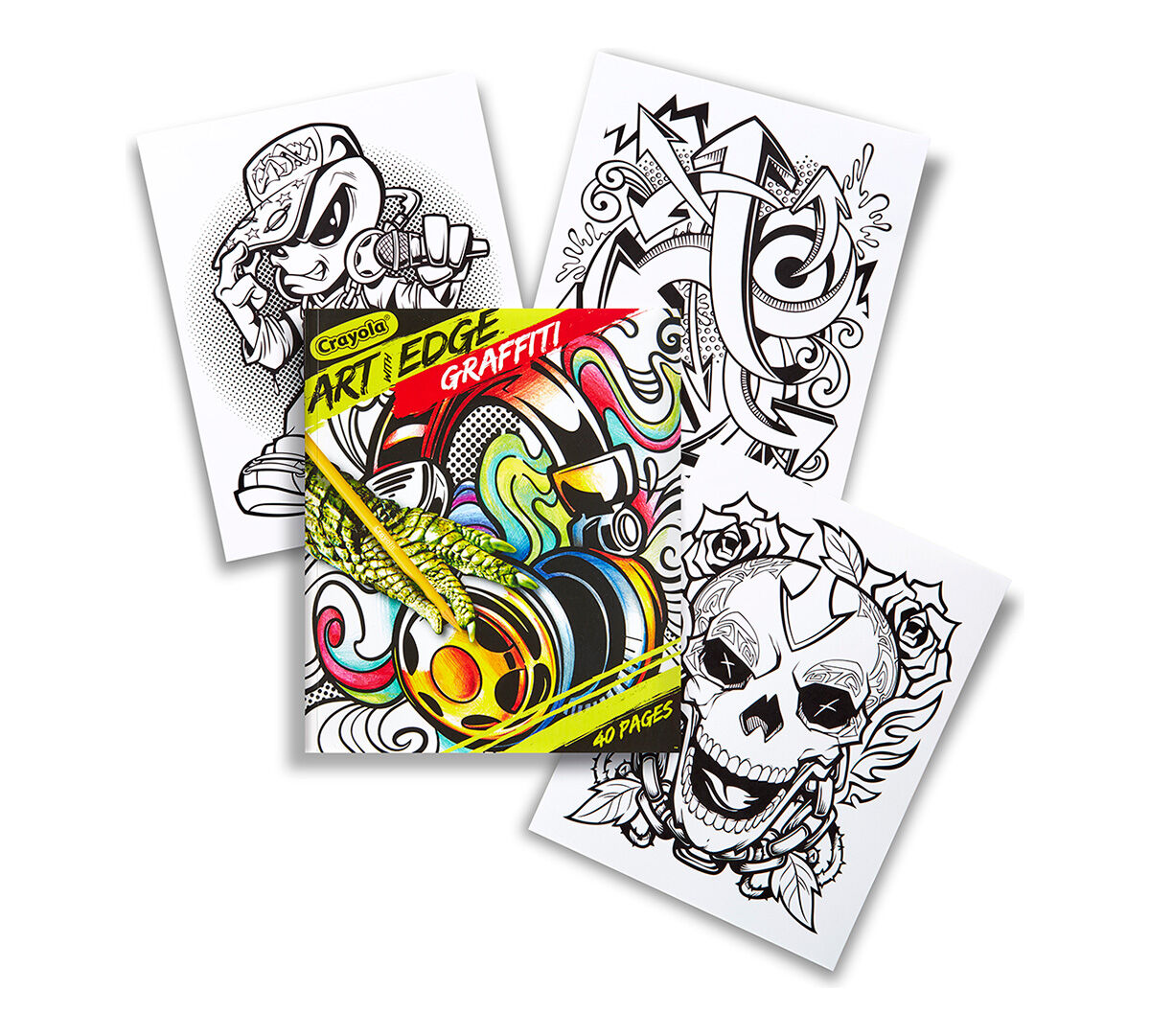 <p>Crayola Art With Edge is a line of stunning designs that will keep your creativity on the edge! The Graffiti collection pays respect to the stylish scrawls of deftly-skilled street artists. 40 high-quality coloring pages.</p>