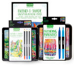 Signature Blend & Shade Art Tutorial Kit with Colored Pencils and Markers