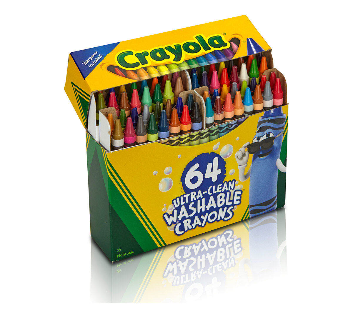 Crayola Ultra-Clean Washable Crayons; 64 count; Art Tools ...