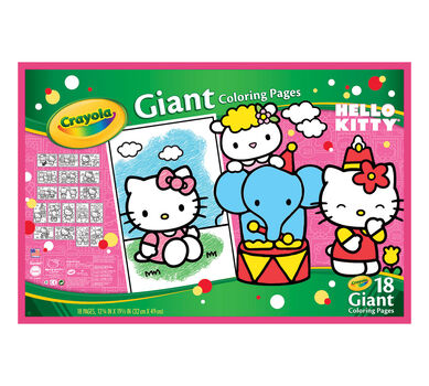 Giant Coloring Pages Hello Kitty Crayola
