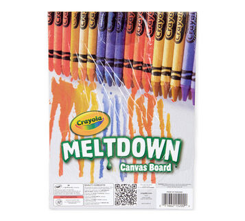 Crayola Meltdown Canvas Board in package
