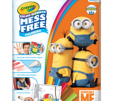 Color Wonder fun! With 18 mess-free coloring pages of Despicable Me fun!
