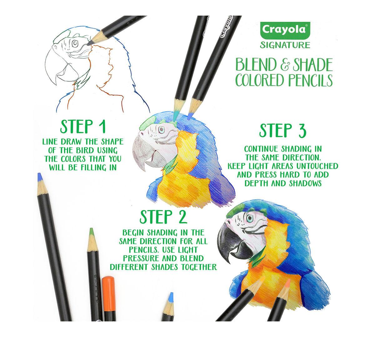 Crayola Signature; Blend & Shade Colored Pencils; 50 ct; Storage Tin ...