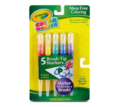 Color Wonder Brush Tip Markers, Classic Colors