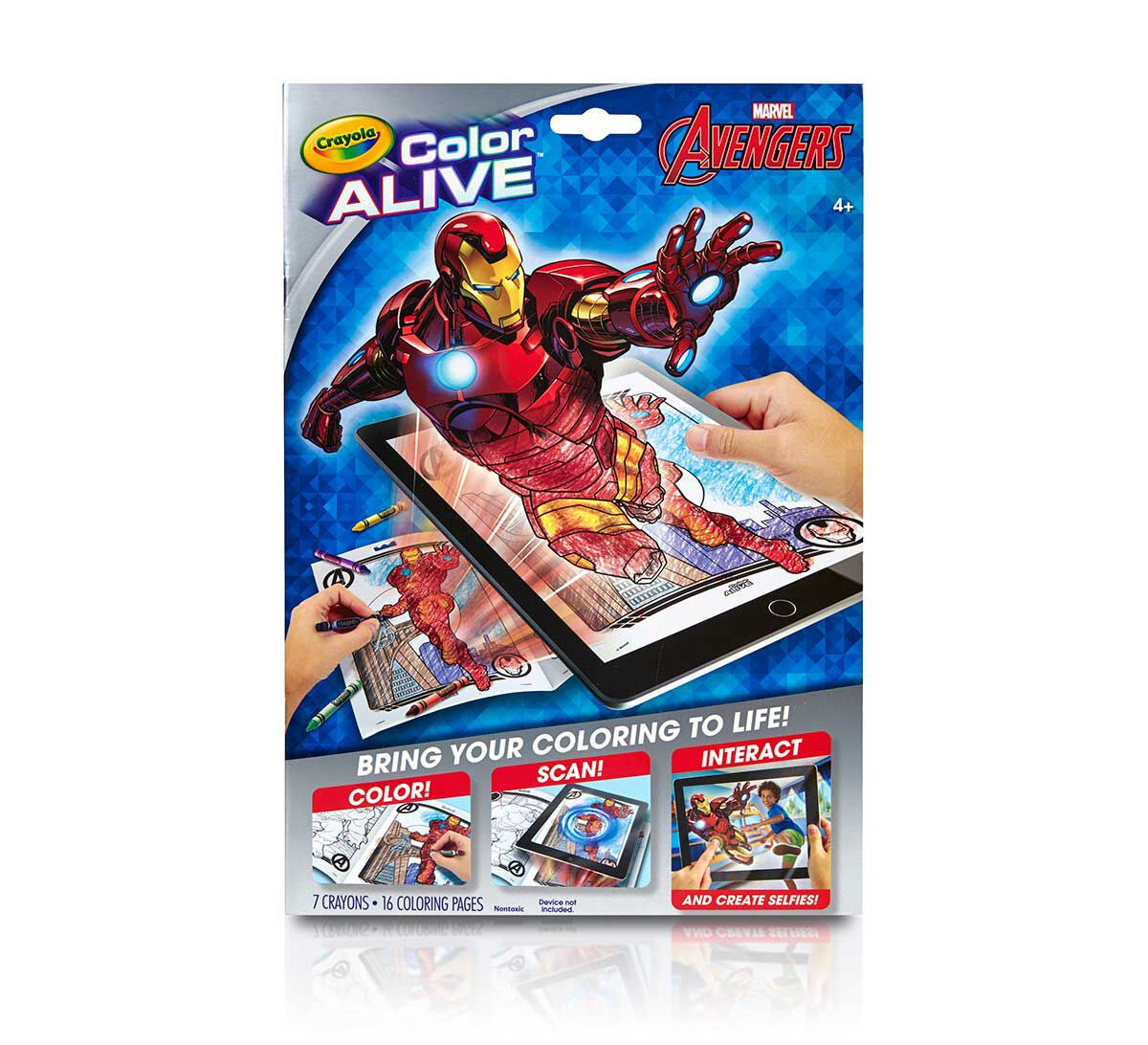 Online coloring for 3 year olds - Color Alive Avengers