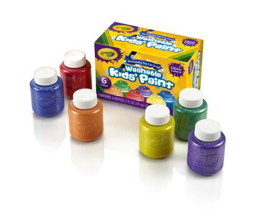 Washable Glitter Paint Set, 6 ct.