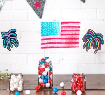CIY Materials Value Kit-Sparkler & Flag Party Decorations