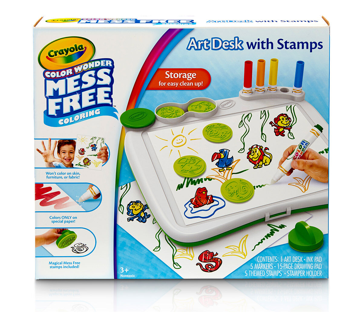Color Wonder Art Desk With Stamper Crayola