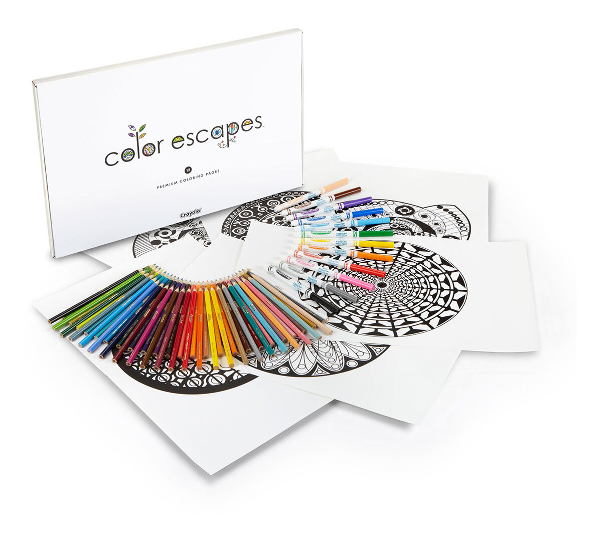 color escapes coloring kit kaleidoscopes crayola