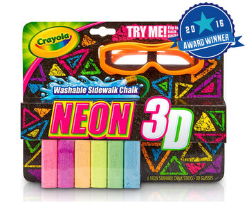 Neon 3D Washable Sidewalk Chalk