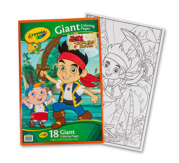 Giant Coloring Pages, Jake and the Never Land Pirates