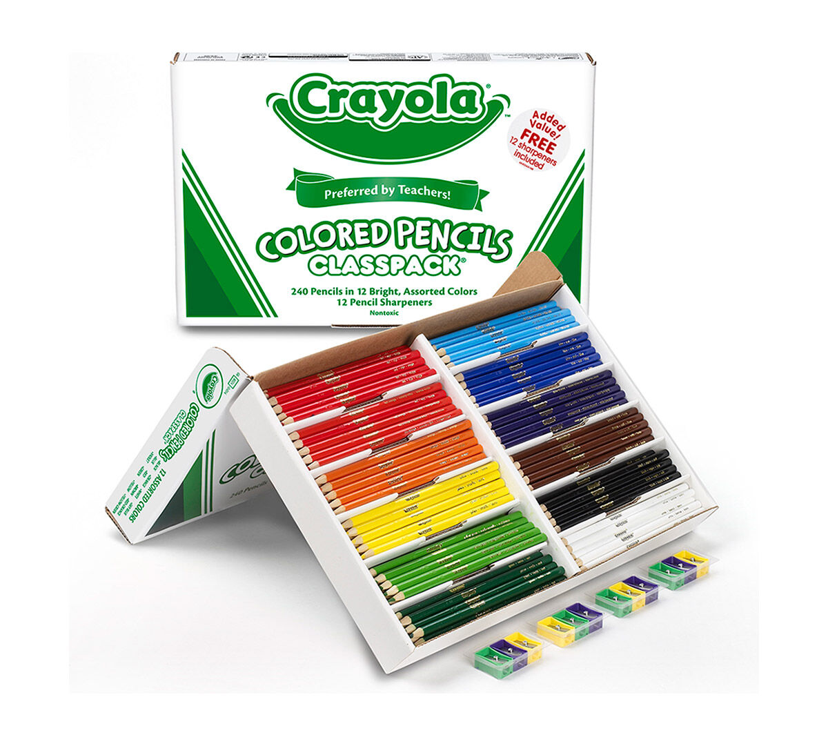 240 count colored pencils classpack 12 colors - Crayola Write Start Colored Pencils