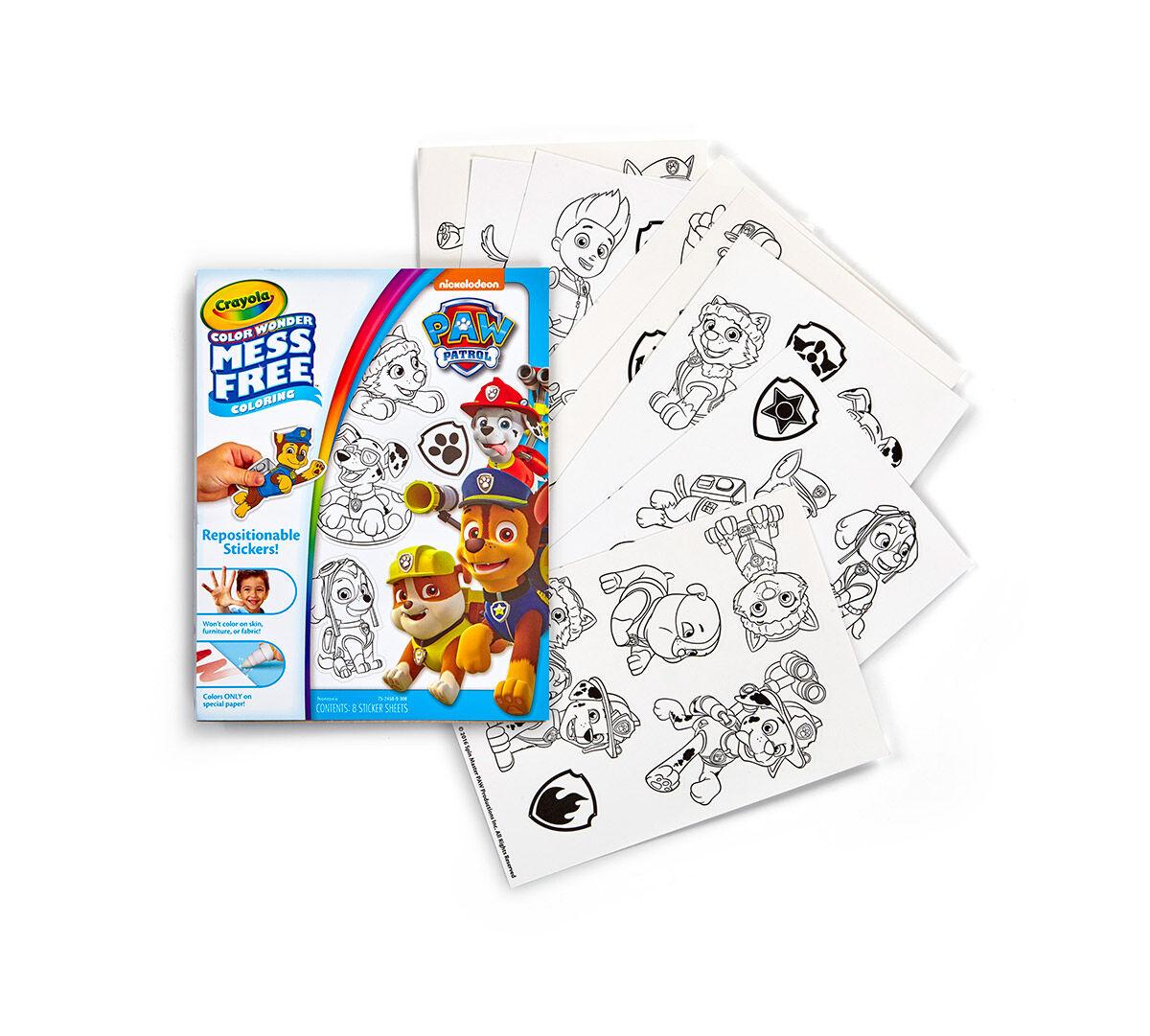 Color Wonder Stickers Paw Patrol Crayola