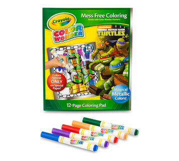 Color Wonder Metallic Paper & Markers - Teenage Mutant Ninja Turtles