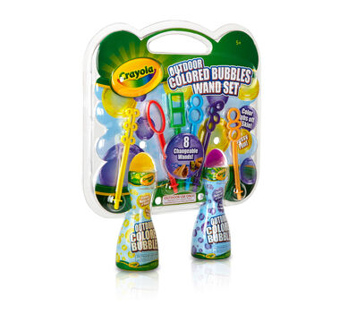 Colored Bubble Wand Set