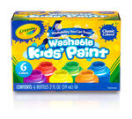 Washable Kids Paint 2 ounce  6 count front panel