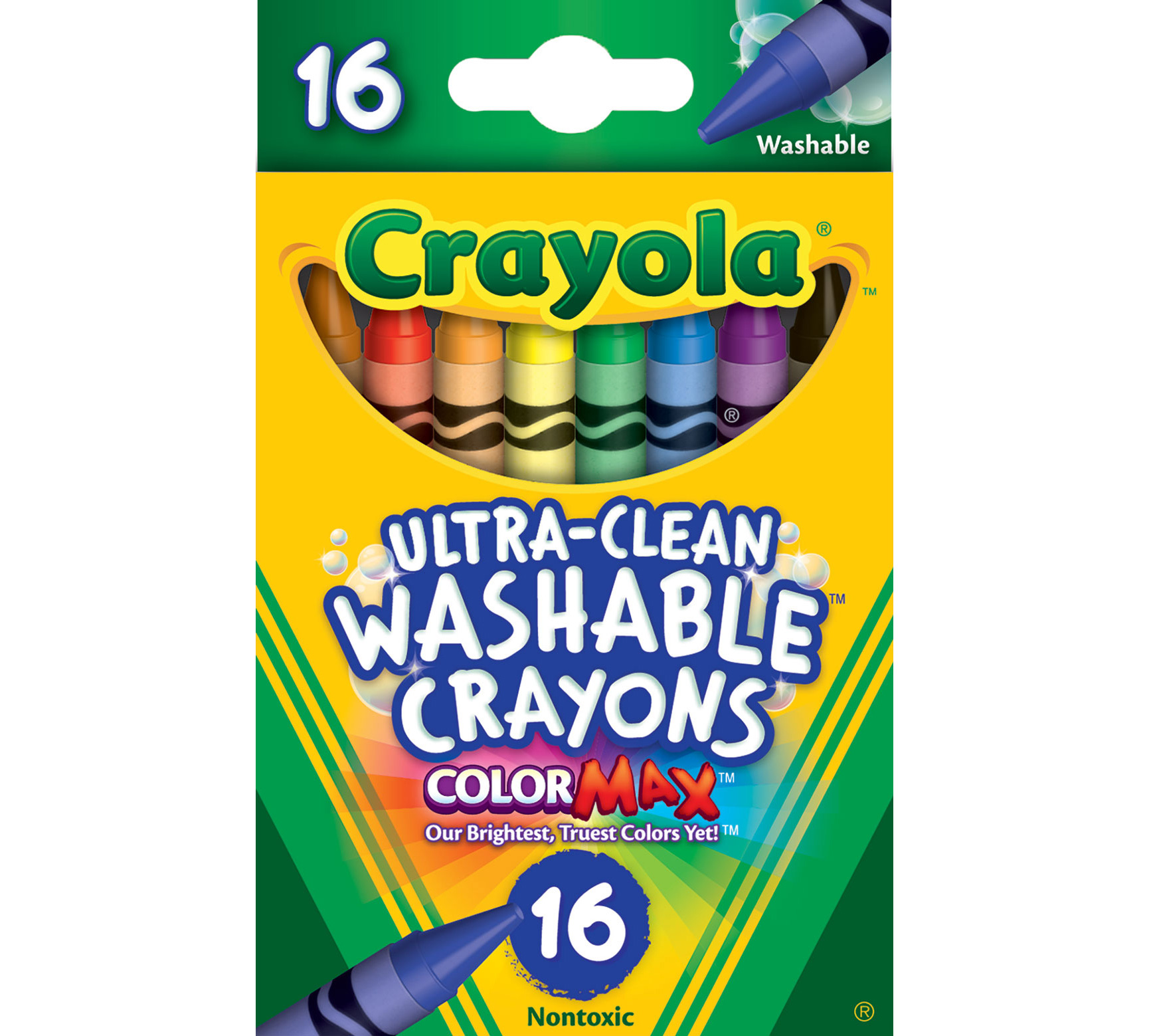 Ultra-Clean Washable Crayons 16 ct.