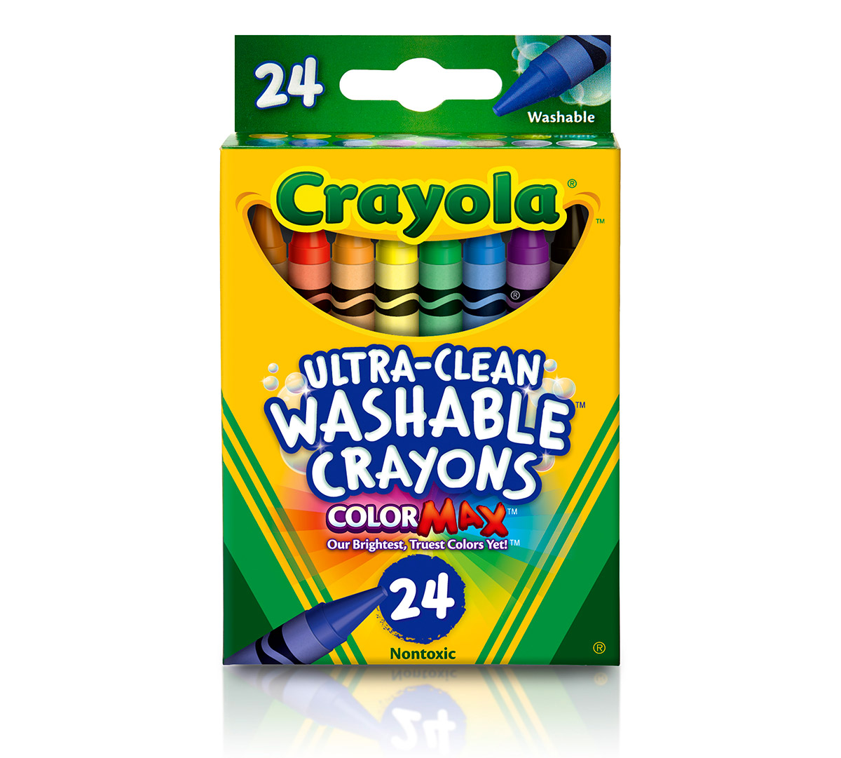 Moana coloring pages crayola - Ultra Clean Washable Crayons 24 Ct