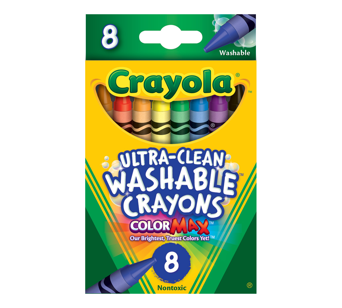 Moana coloring pages crayola - Washable Crayons 8 Ct