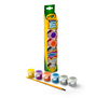 Washable Kids Paint Glitter Mix package, paint and brush