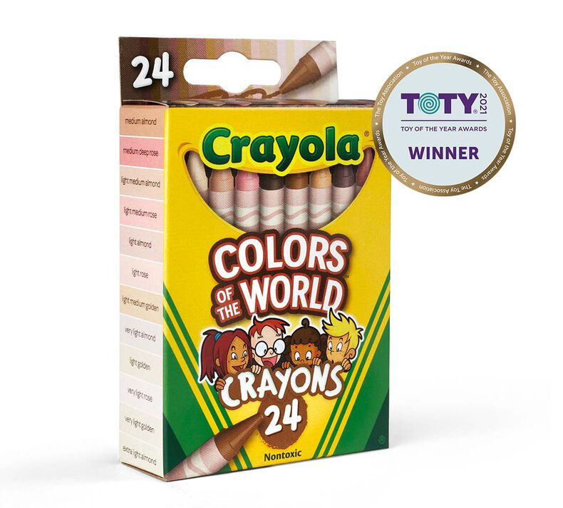 Colors of the World Skin Tone Crayons, 24 Count
